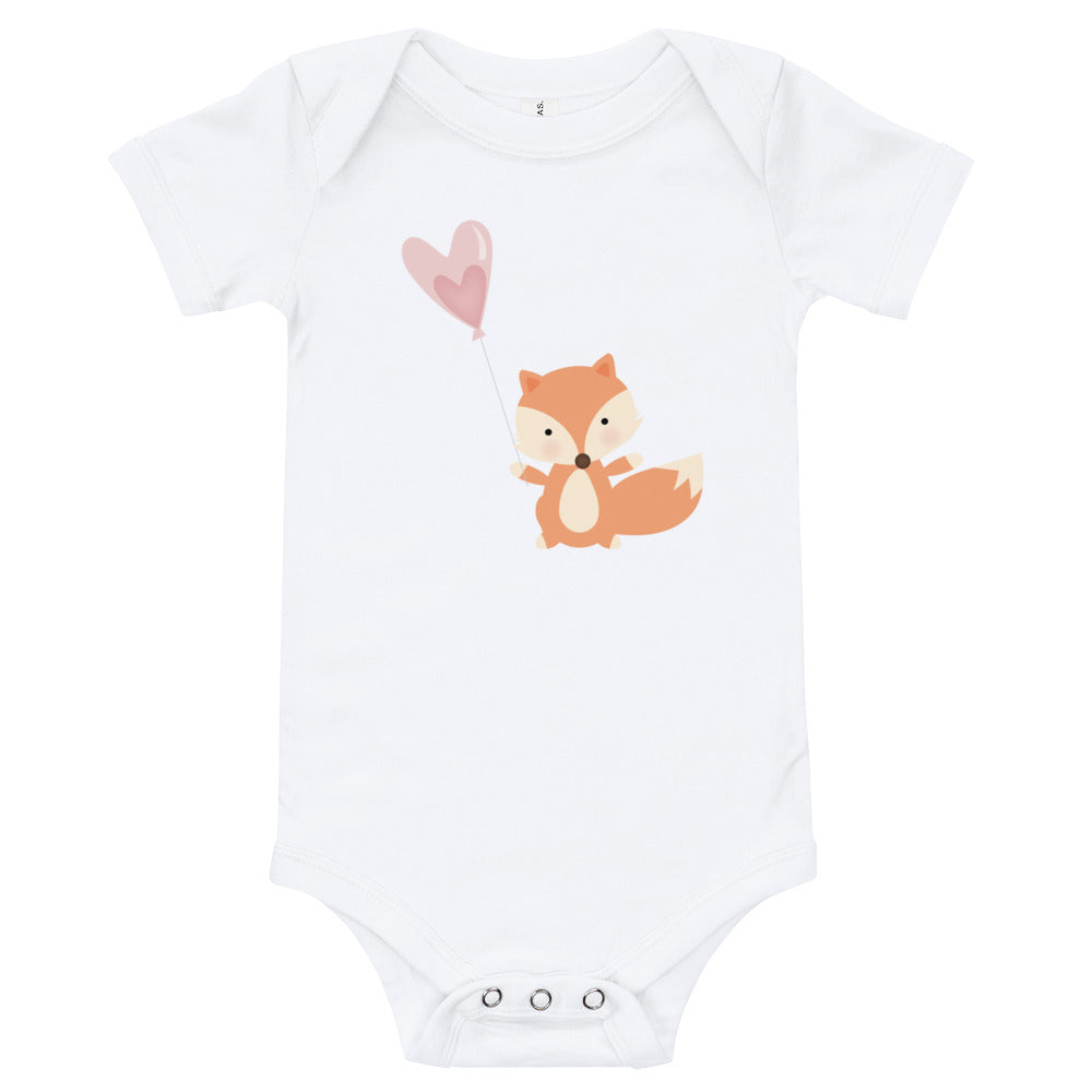 Fox Valentine's Baby Tee - Personalized Valentine's Day Baby Outfits - Rebels and Roses Boutique