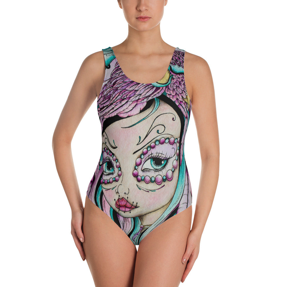 Day of the Dead Girl Women's Swimsuit - Gypsy Junk Clothing Trunk