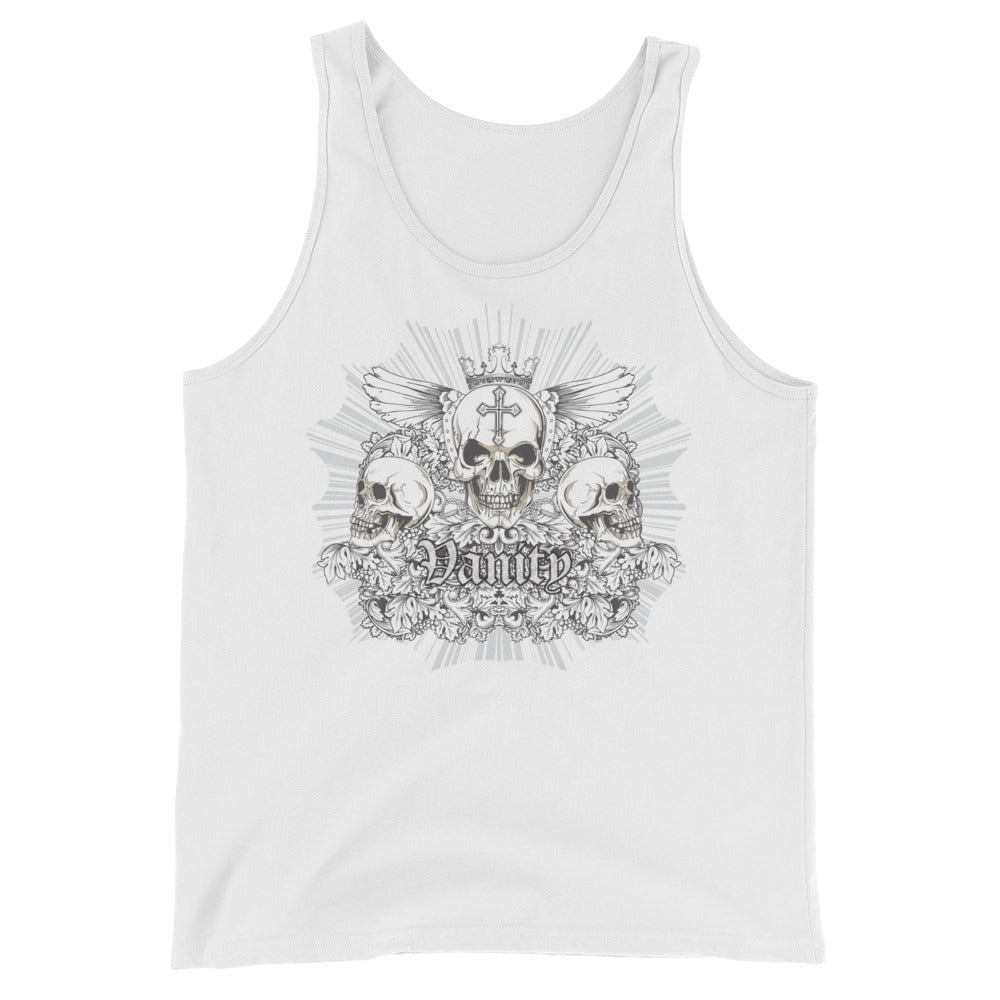 Men's Vanity Skull Tank Top - Rebels and Roses Boutique