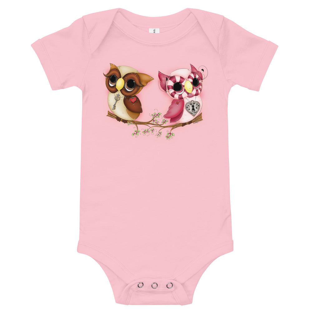 Owl Printed Valentine's Day Baby Outfits - Owl Tee - Rebels and Roses Boutique