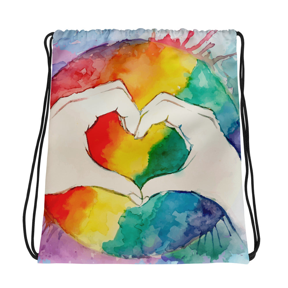 Rainbow Pride Drawstring Bag - Rebels and Roses Boutique