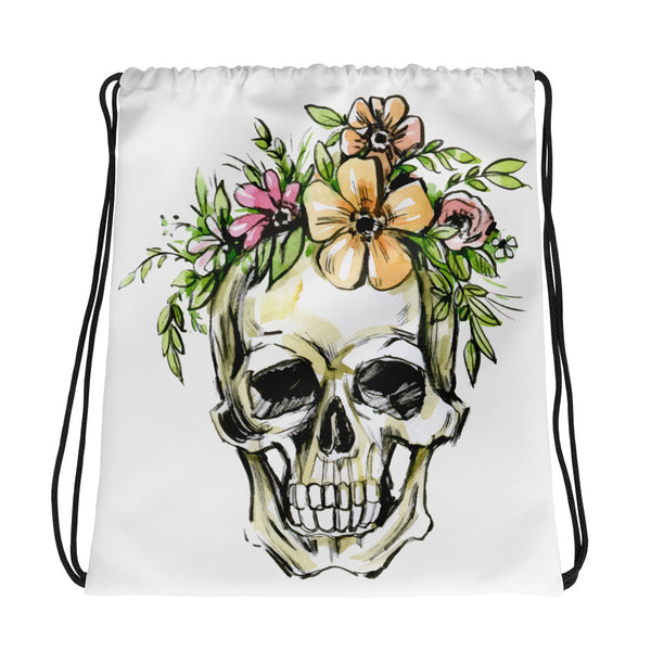 Floral Skull Tote Bag - Rebels and Roses Boutique