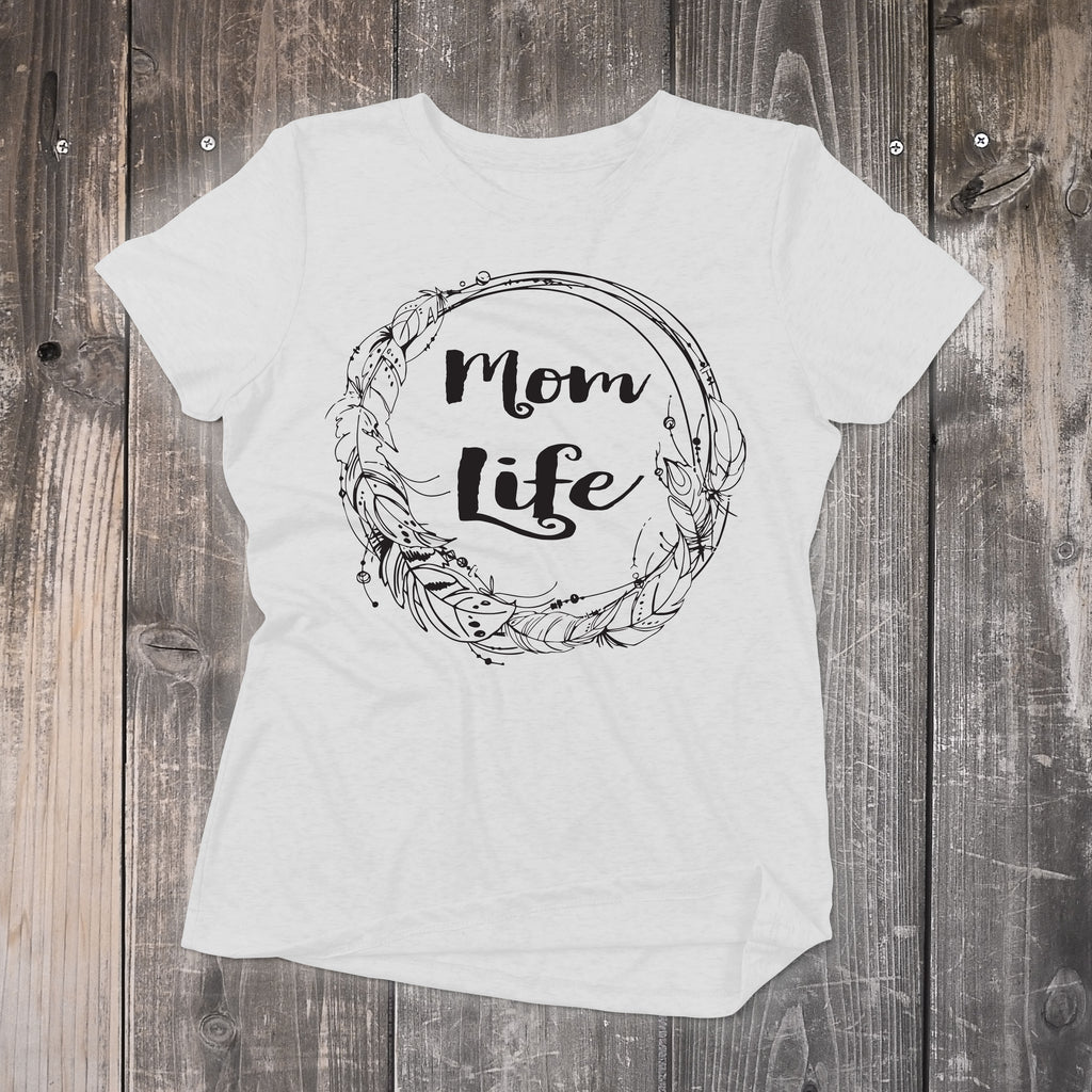 Mom Life Top - Mom Life T-Shirt - Black and White Tee