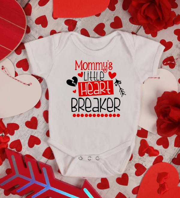 Mommy's Little Heart Breaker - Valentines Day Baby Outfit