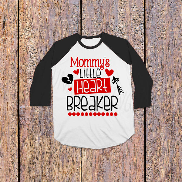 Mommy's Little Heartbreaker - Valentine's Day Tee for Kids - Rebels and Roses Boutique