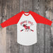 Moose Pack Baby Tee - Red and White Raglan