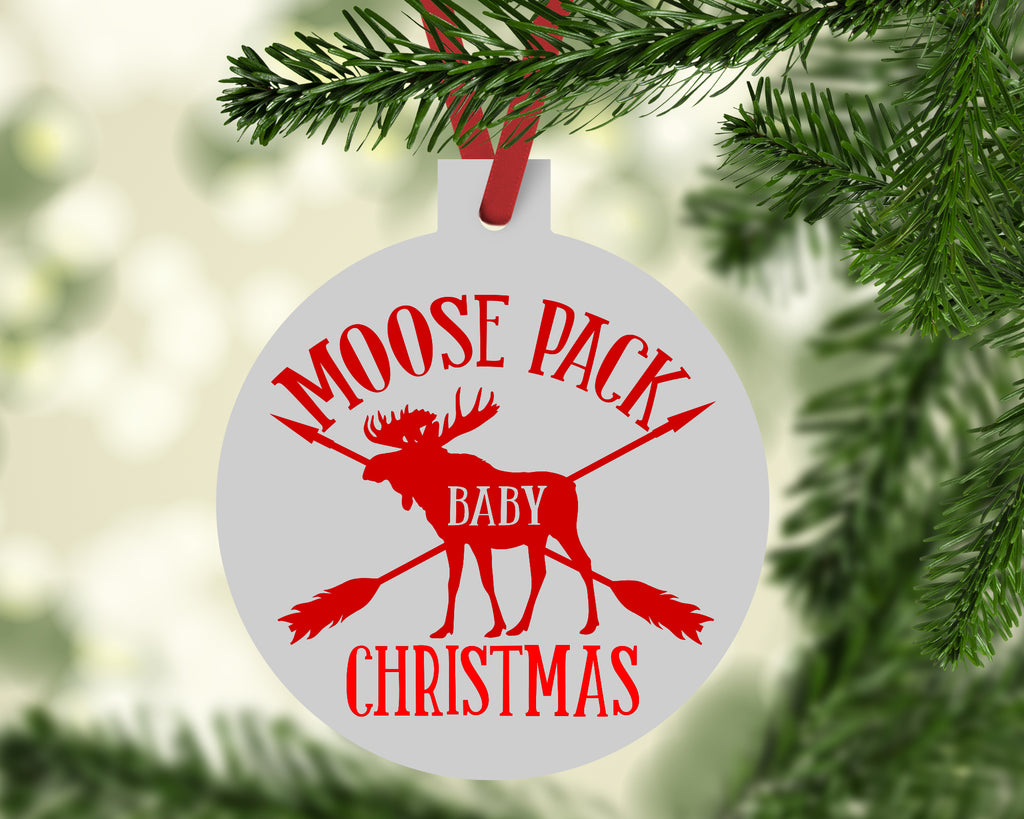 Moose Pack Baby Christmas Ornament - Rebels and Roses Boutique