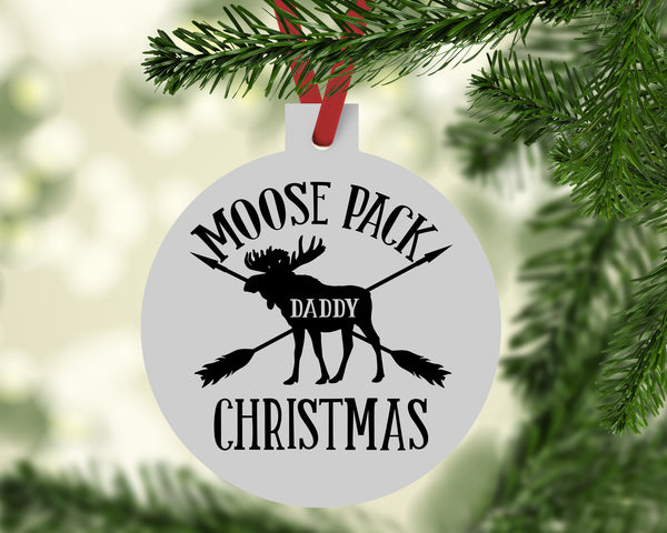 Daddy Moose Christmas Ornament - Rebels and Roses Boutique