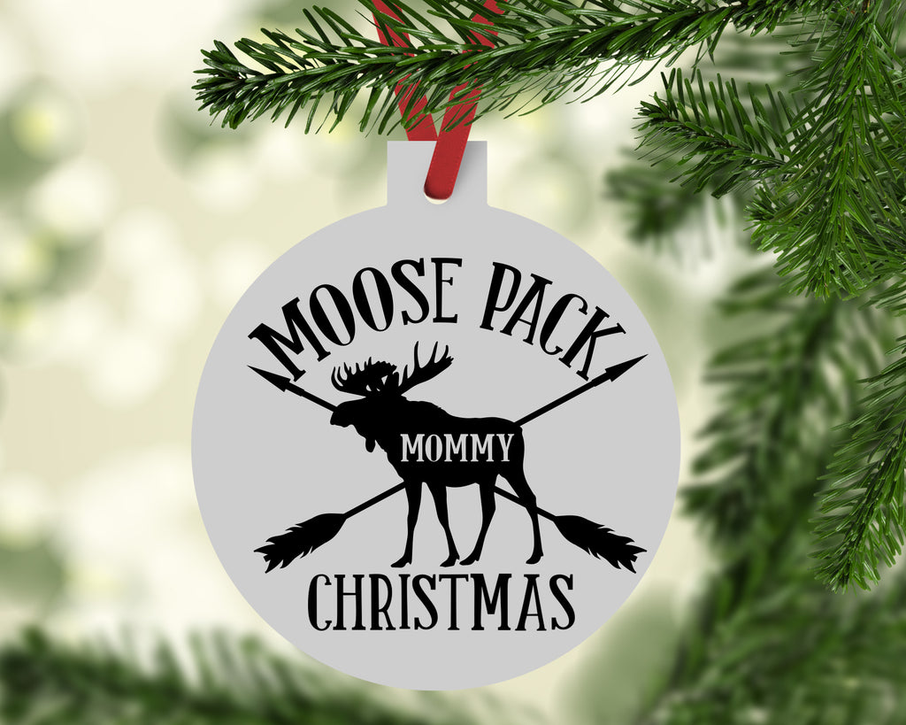 Moose Pack Mommy Christmas Ornament - Rebels and Roses Boutique