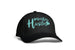 Black and Teal Mom Life Hat