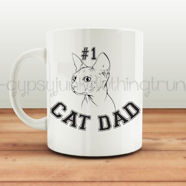 No. 1 Cat Dad Coffee Mug - Cat Lovers Mug - Rebels and Roses Boutique