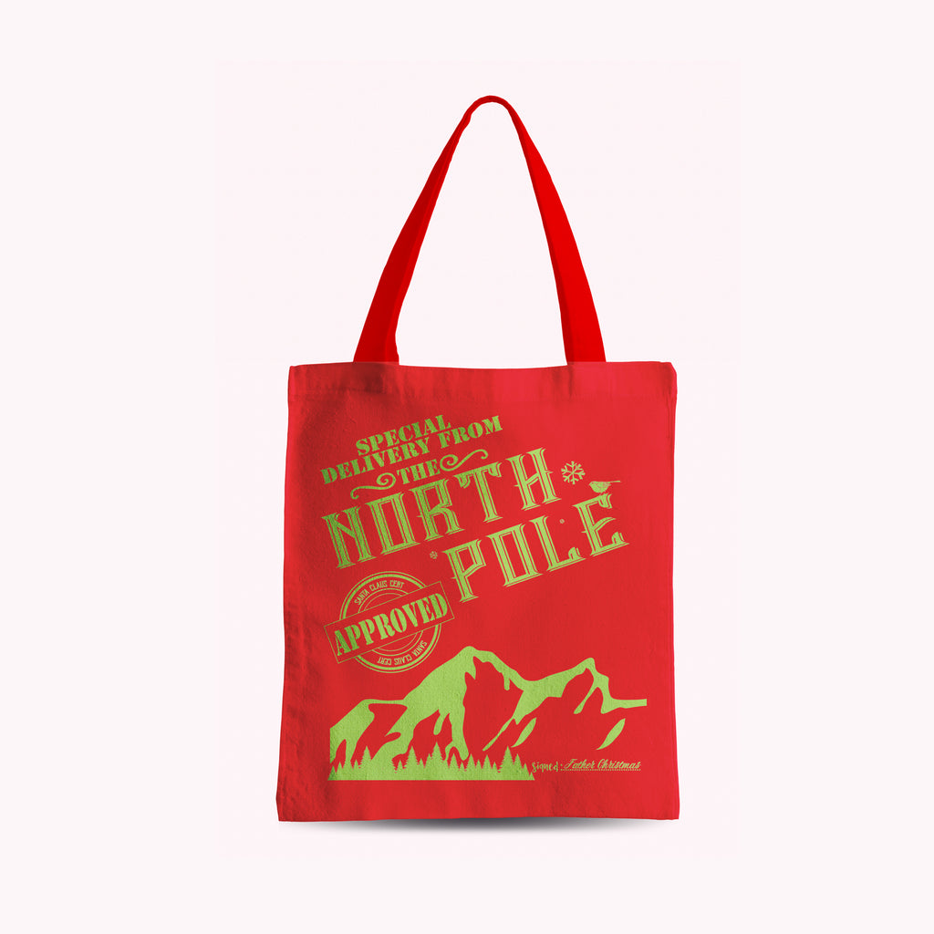 North Pole Christmas Tote Bag - Rebels and Roses Boutique