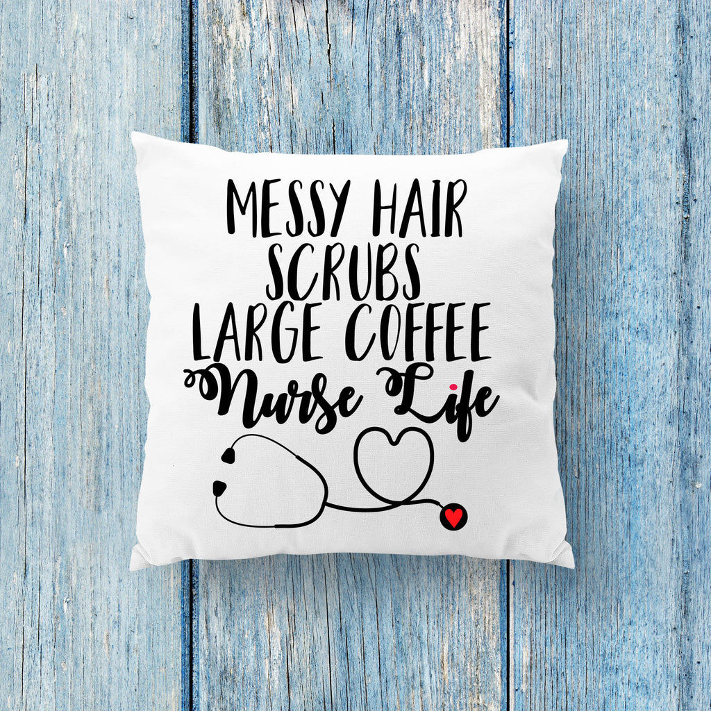 Nurse Pillow - Gifts for Nurses - Workplace Pillows - Rebels and Roses Boutique