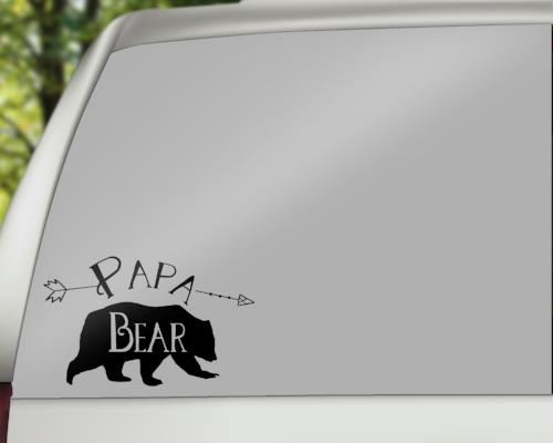 Papa Bear Car Decals/Laptop Decals - Rebels and Roses Boutique