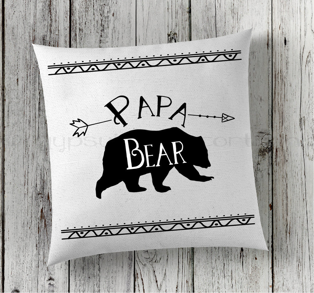 Papa Bear Pillow - Boho Woodland Pillow