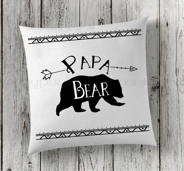 Papa Bear Pillow - Pillows for Dad - Boho Pillows - Rebels and Roses Boutique