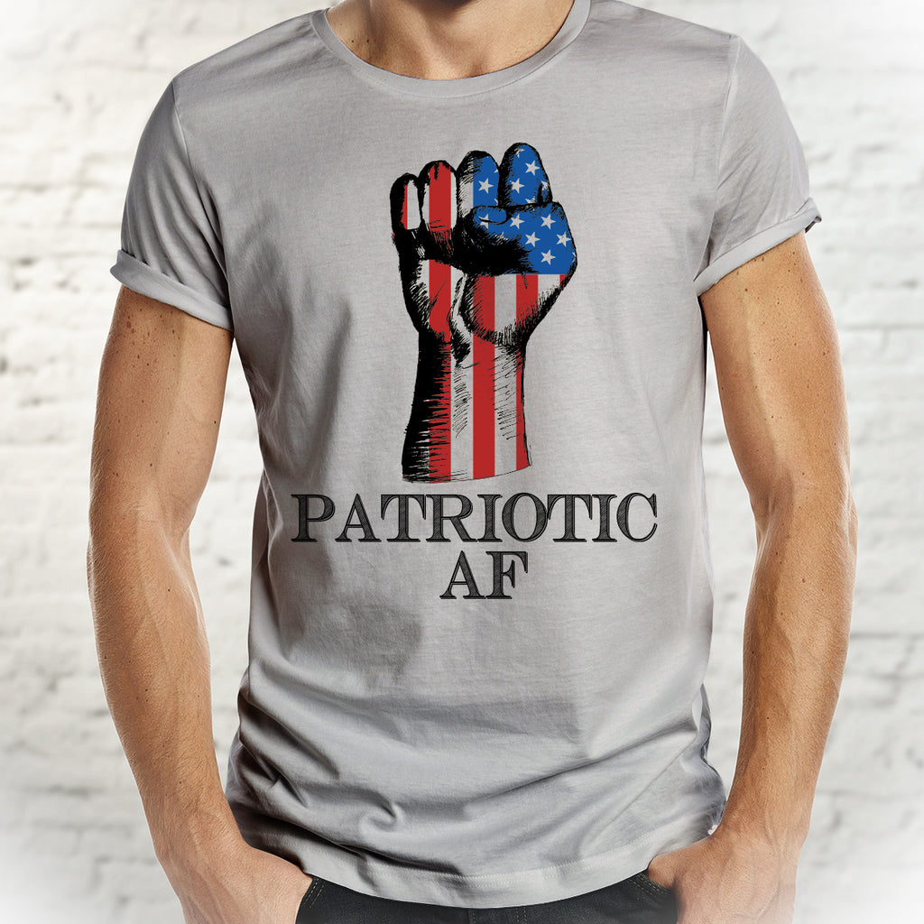 Patriotic AF Shirt - Show Your Spirit! Patriotic Tee for Men - Rebels and Roses Boutique