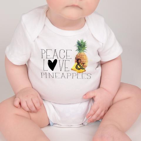 Foodie Baby Top, Foodie Outfit, Peace Love Pineapples Top - Rebels and Roses Boutique