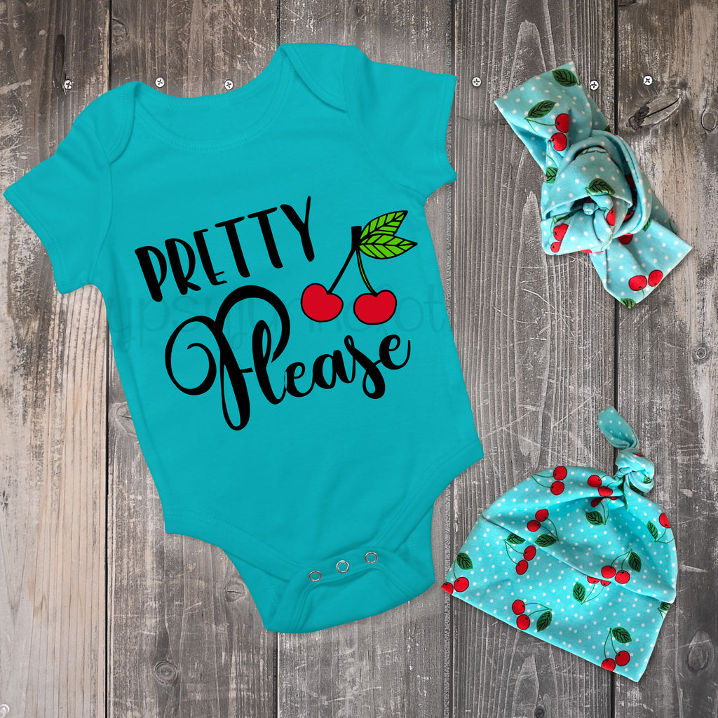 Foodie BabyOutfit - Pretty Please Cherry Outfit