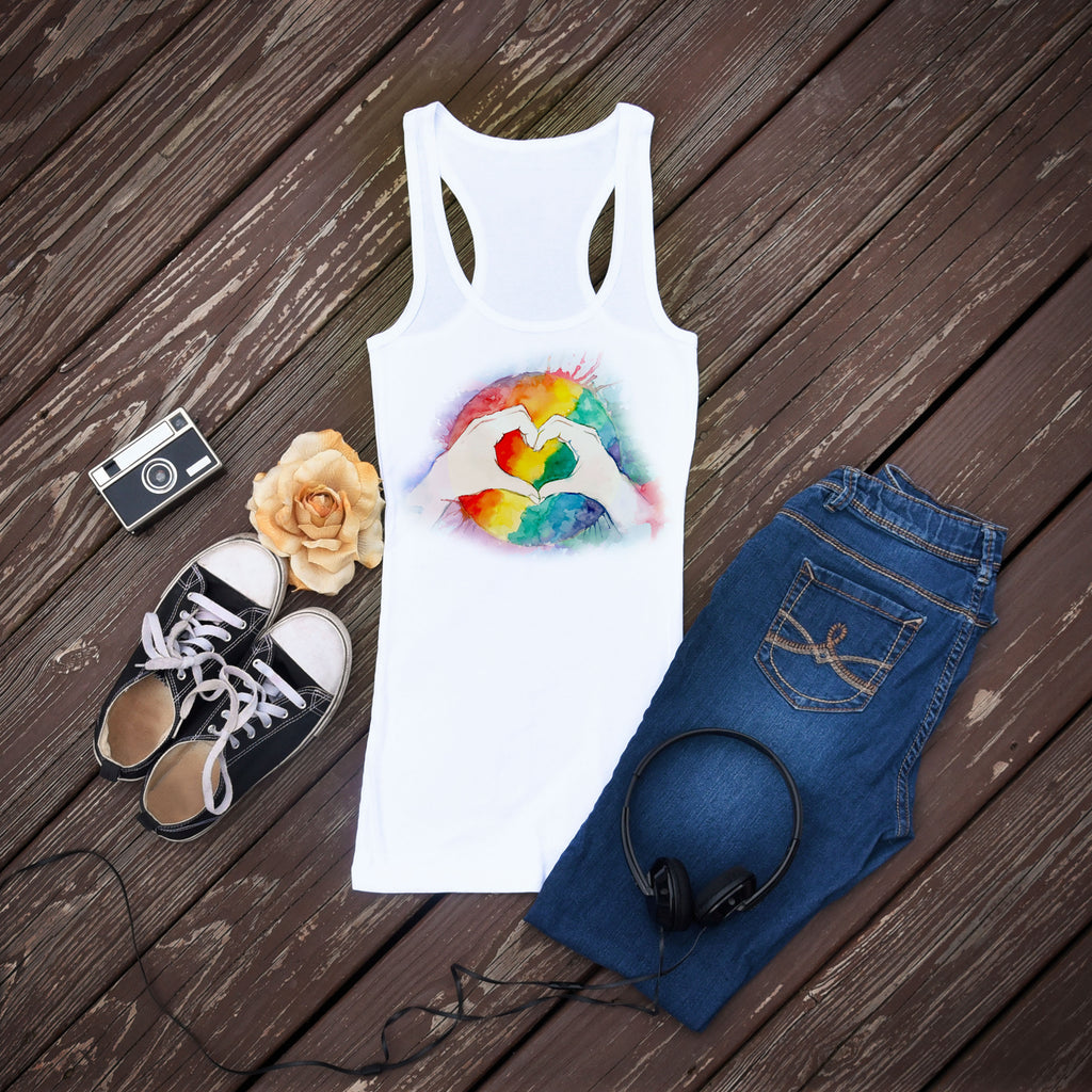 Rainbow Pride Tank Top - Gay Pride - World Movement - Rebels and Roses Boutique