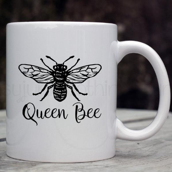 Queen Bee Coffeee Mug - Mom Life Mug