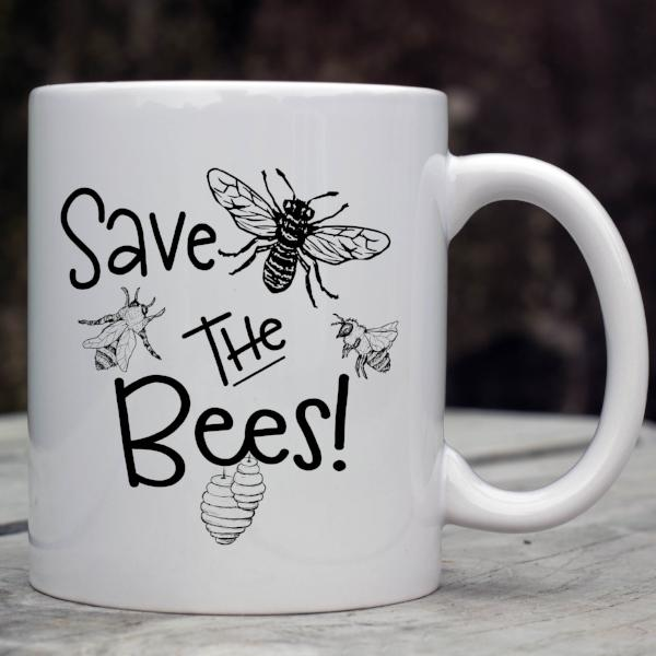 Save The Bees Coffee Mug - Rebels and Roses Boutique