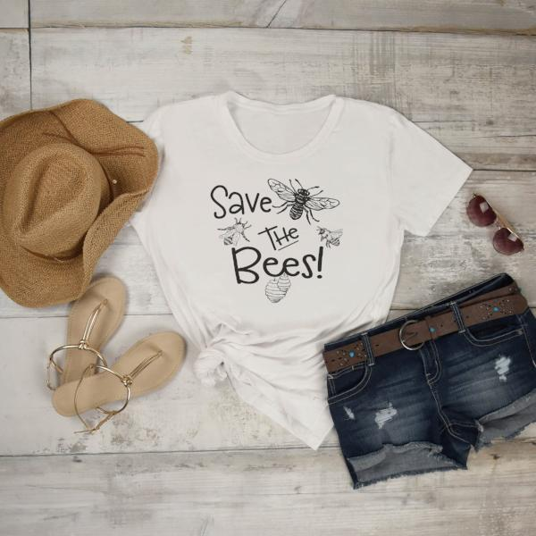 Save the Bees - Bee Conservation Shirt - Awareness Tee - World Movement - Rebels and Roses Boutique