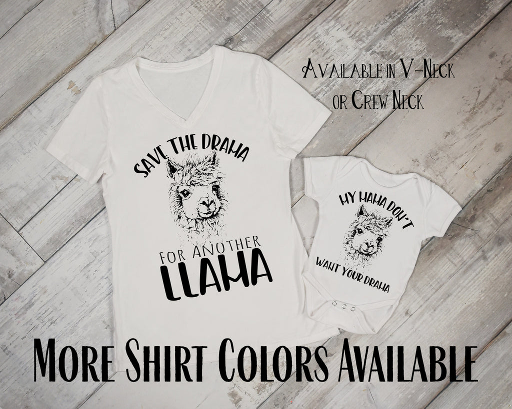 Save the Drama for Another LLama - Mommy and Me Matching Llama Shirts - Rebels and Roses Boutique