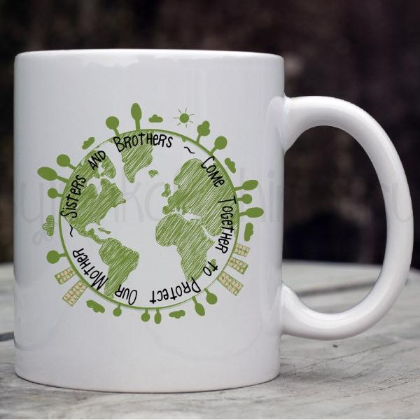 Earth Day Mug - Save the Earth Coffee Mug - World Movement Mugs - Rebels and Roses Boutique