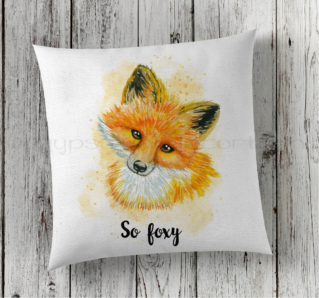 So Foxy Woodland Pillow