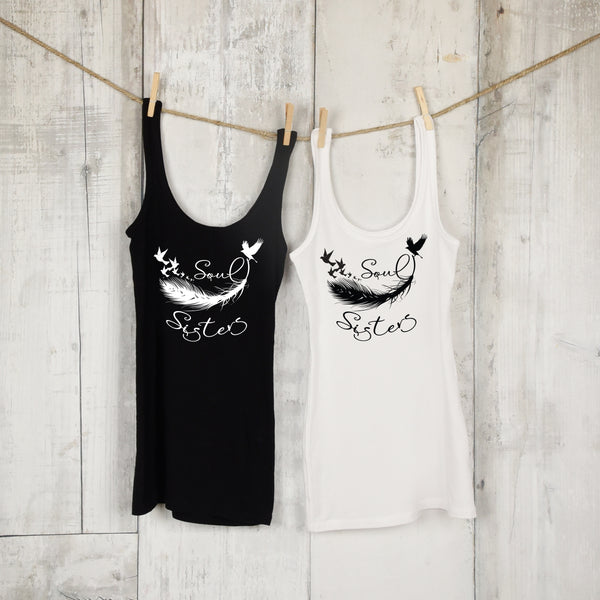Soul Sisters Matching Tank Top Set - Best Friends Shirts - Matching Outfits - Best Friends Collection for Women - Rebels and Roses Boutique