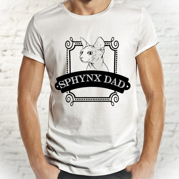 Sphynx Dad Shirt - Cat Dad Tee - Pet Shirt for Men - Gypsy Junk Clothing Trunk