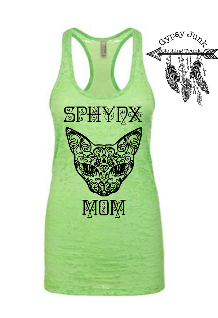 Sphynx Mom Tank Top - Cat Lovers Shirt - Rebels and Roses Boutique