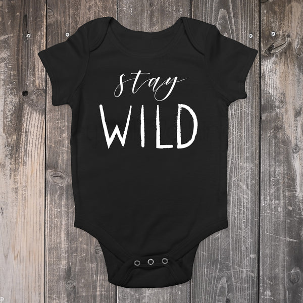 Stay Wild Baby Bodysuit - Boho Baby Outfit - Gypsy Junk Clothing Trunk