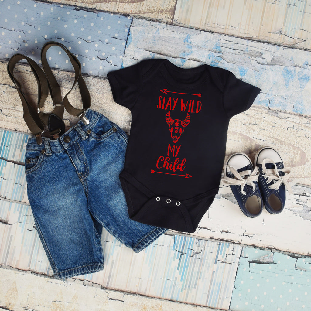 Stay Wild My Child - Boho Baby Outfit - Rebels and Roses Boutique