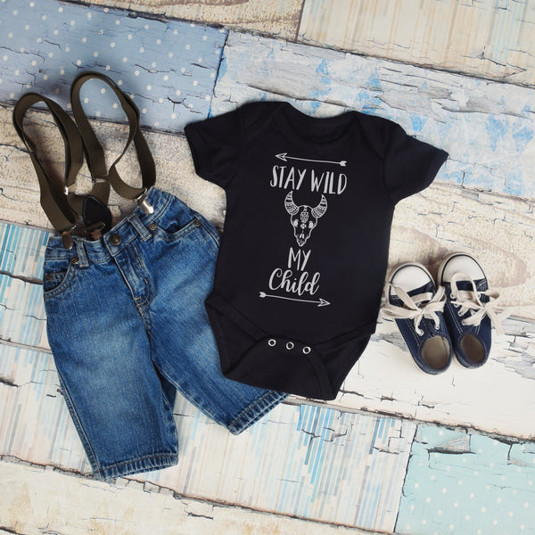 Stay Wild My Child - Boho Baby Outfit - Gypsy Junk Clothing Trunk