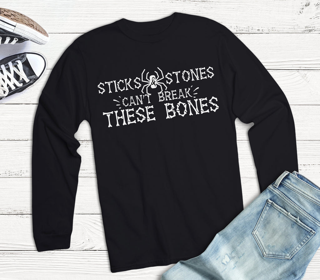 Sticks and Stones Kids Halloween Shirt