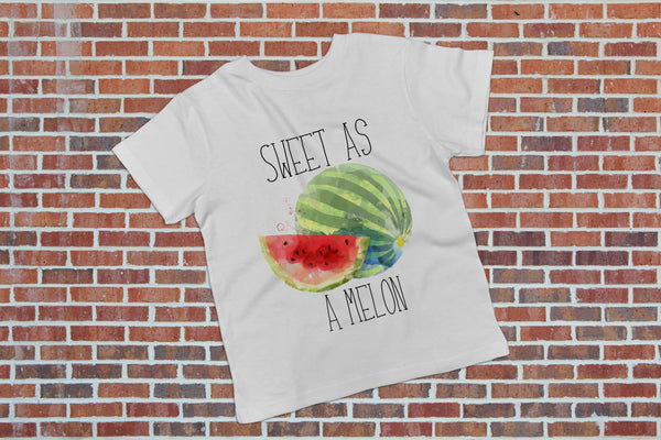 Foodie Shirt for Girls - Sweet As A Melon