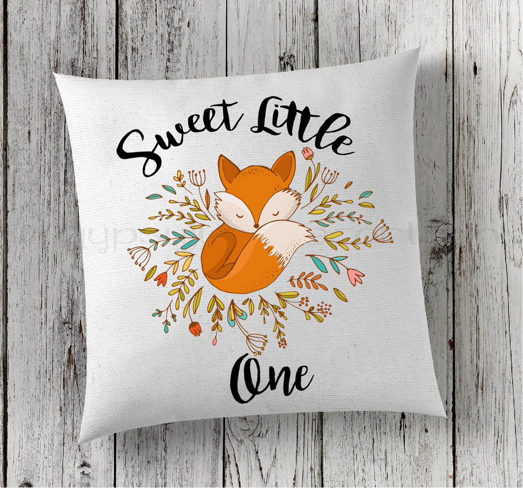 Fox Pillow, Nursery Pillow, New Baby Pillow, Personalized Pillow, Fox Baby Pillow, Boho Pillows