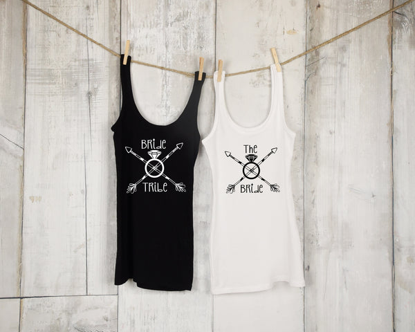 Bride Tribe Tank Top Set - Bachelorette Party - Bridal Party - Wedding Collection - Rebels and Roses Boutique