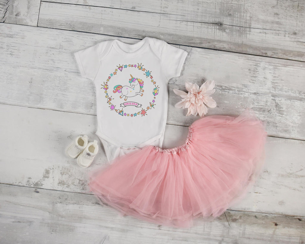 Unicorn Boho Baby Outfit - Rebels and Roses Boutique