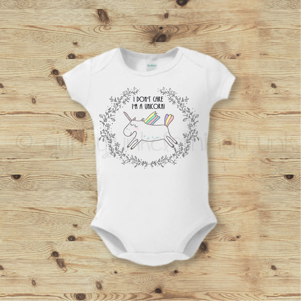 Unicorn Baby Girl Top