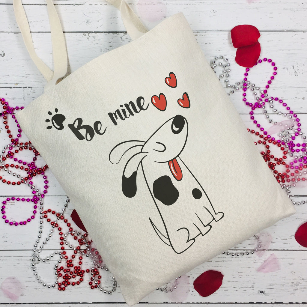Be Mine Dog Lovers Tote Bag - Pet Tote Bag - Dog Tote - Rebels and Roses Boutique