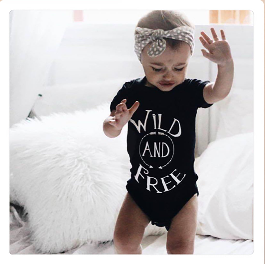 Wild and Free Boho Baby Bodysuit - Rebels and Roses Boutique