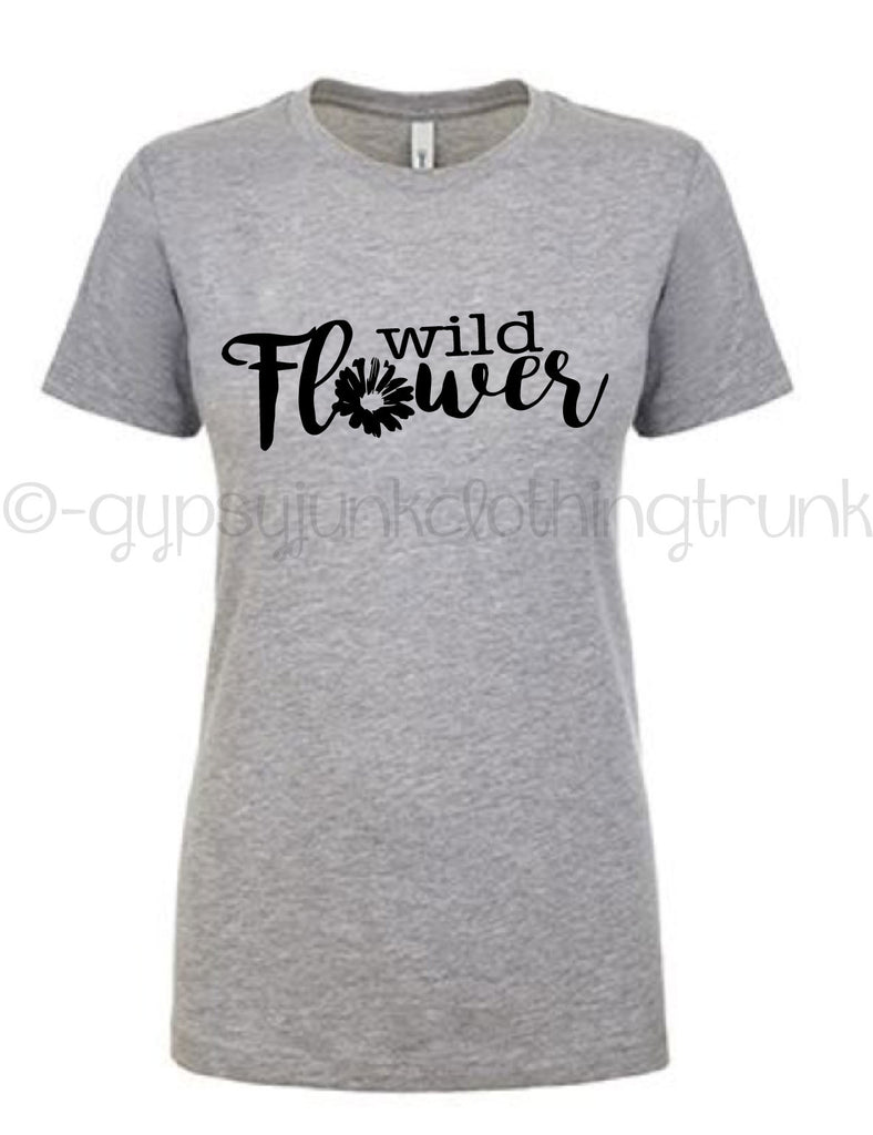 Wild Flower Crew Neck- Boho Shirt - Rebels and Roses Boutique