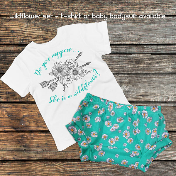 Wildflower Set - Boho Baby Outfit and Bummies - Gypsy Junk Clothing Trunk