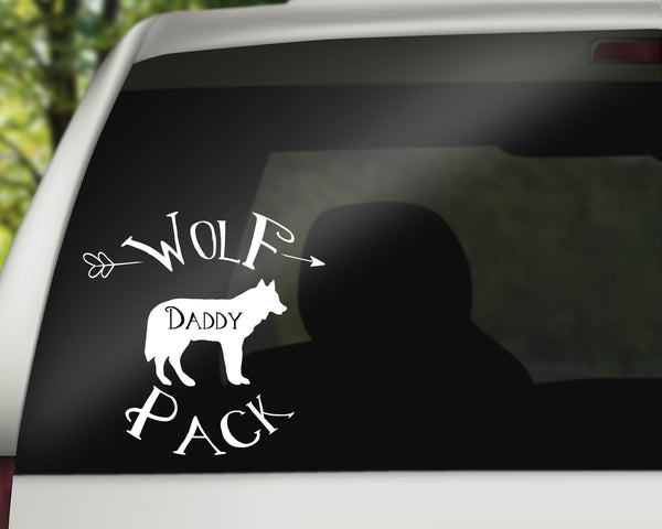 Wolf Pack Daddy Car Decal