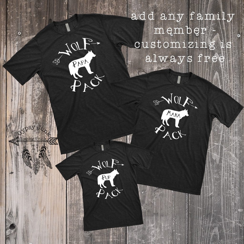 Wolf Pack Family Matching Outfits - Gypsy Junk Clothing Trunk