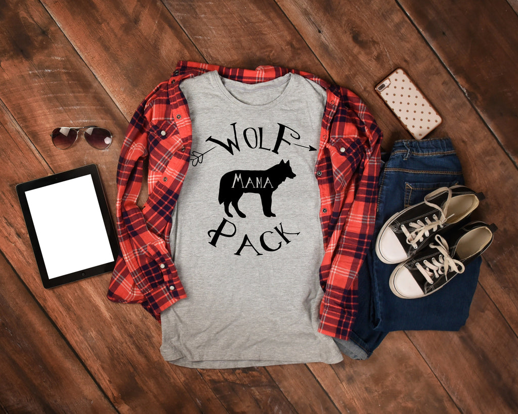 Wolf Pack Mama - Mom Shirt - Rebels and Roses Boutique