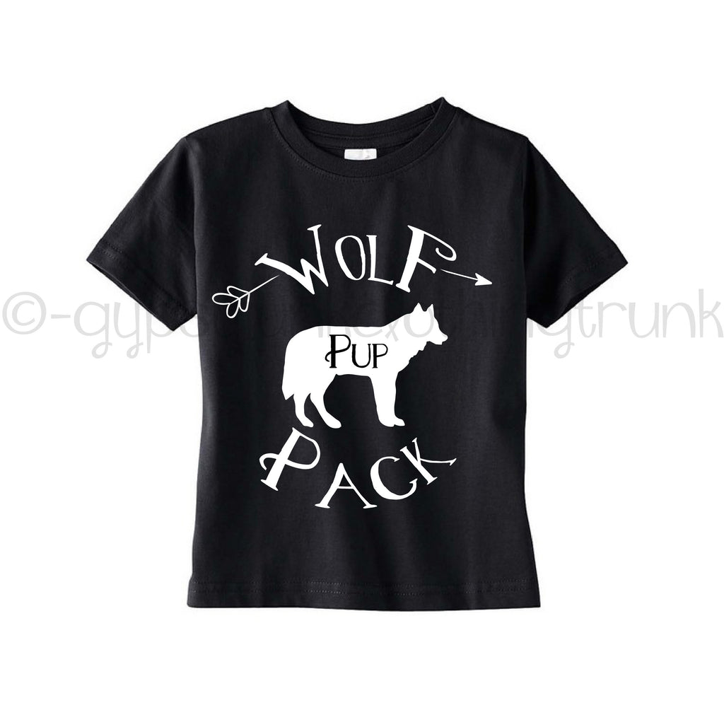 Wolf Pack Shirt - Black - Wolf Pack Apparel - Rebels and Roses Boutique